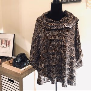 Fever Cowl Neck Poncho Sweater sz S/M